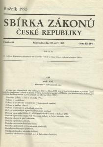 náhled knihy - Sbírka zákonů České republiky 3. Ročník  1995