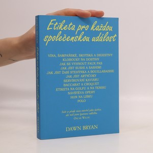 náhled knihy - Etiketa pro každou společenskou událost