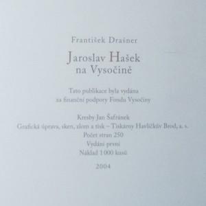 antikvární kniha Jaroslav Hašek na Vysočině aneb Hostinský Alexandr Invald vypravuje, 2004