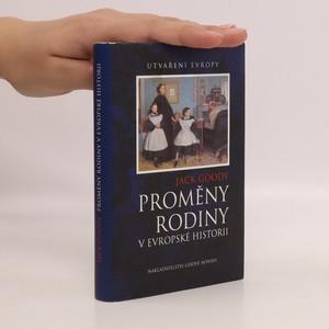 náhled knihy - Proměny rodiny v evropské historii