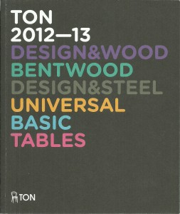 náhled knihy - TON 2012 - 13. Design & Wood. Design & Steel. Universal. Basic. Tables