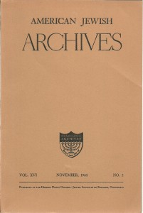 náhled knihy - American Jewish Archives Vol. XVI, November, 1964. No. 2