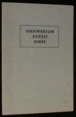 náhled knihy - Ordinárum svätej omše