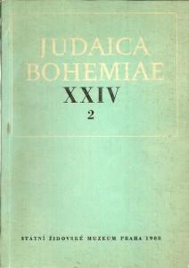 náhled knihy - Judaica Bohemiae XXIV 2