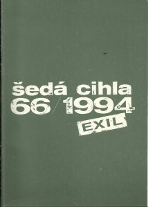 náhled knihy - Šedá cihla 66 / 1994. Exil