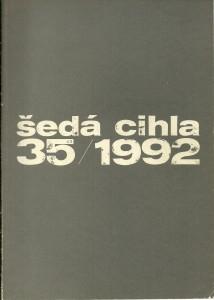 náhled knihy - Šedá cihla 35 / 1992
