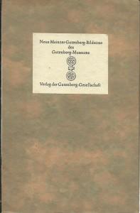 náhled knihy - Neue Mainzer Gutenberg-Bildnisse des Gutenberg-Museums