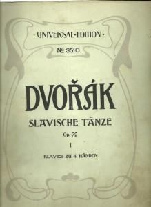 náhled knihy - Slavische Tänze. Op. 72 I. Klavier zu 4 Händen
