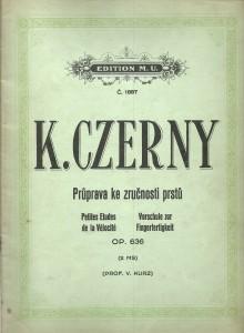 náhled knihy - K. Czerny. Průprava ke zručnosti prstů. Op. 636. Klavír
