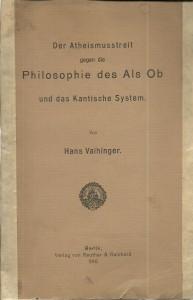 náhled knihy - Der Atheismusstreit gegen die Philosophie des Als Ob und das Kantische System