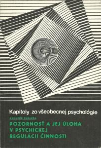 náhled knihy - Pozornosť a jej úloha v psychickej regulácii činnosti