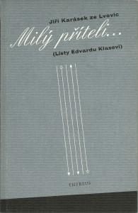 náhled knihy - Milý příteli... (Listy Edvardu Klasovi)