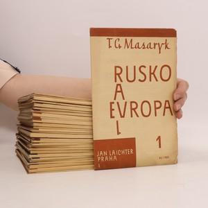 náhled knihy - Rusko a Evropa. Díl I. Číslo 1-22 (15 svazků). Díl II. Číslo 23-46 (16 svazků) (celkem 31 svazků)