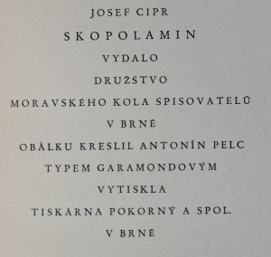antikvární kniha Skopolamin, neuveden