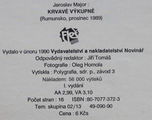 antikvární kniha Krvavé výkupné : (Rumunsko, prosinec 1989), 1990