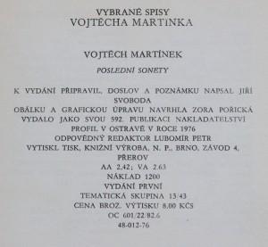 antikvární kniha Poslední sonety, 1976