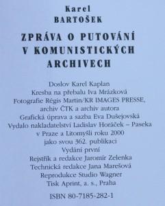 antikvární kniha Zpráva o putování v komunistických archivech : Praha - Paříž (1948-1968), 2000