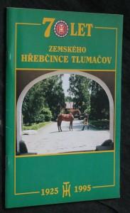 náhled knihy - 70 let zemského hřebčince Tlumačov 1925-1995