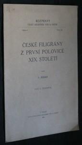 náhled knihy - České filigrány z první polovice XIX. století
