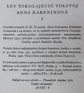 antikvární kniha Anna Kareninová. 2 svazky, 1956