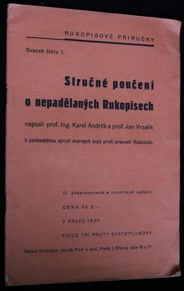 náhled knihy - Stručné poučení o nepadělaných Rukopisech