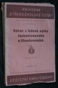 náhled knihy - Výbor z lidové epiky československé a jihoslovanské