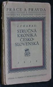 náhled knihy - Stručná kronika československá