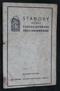 náhled knihy - Stanovy jednot československé obce legionářské