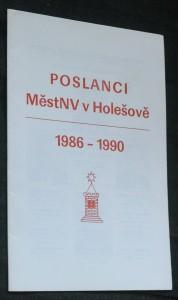 náhled knihy - Poslanci MěstNV v Holešově 1986-1990