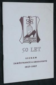 náhled knihy - Seznam zaměstnanců a absolventů 1937-1987