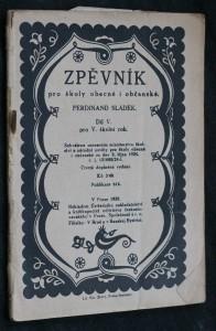 náhled knihy - Zpěvník pro školy obecné i občanské. IV. pro IV. školní rok