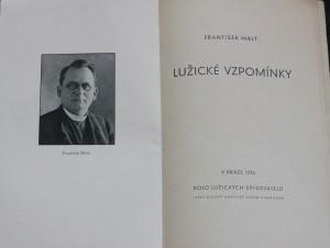 antikvární kniha Lužické vzpomínky, 1935