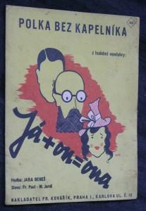 náhled knihy - Polka bez kapelníka z hudební veselohry Já + on = ona