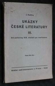 náhled knihy - Ukázky české literatury III. od poloviny XIX. století po realismus
