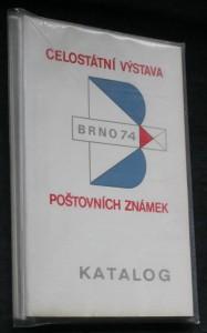 Celostátní výstava poštovních známek, Brno 74. Katalog. 3 svazky