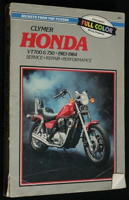 náhled knihy - Clymer Honda VT700 750, 1983-84