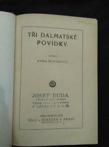 antikvární kniha Tři dalmatské povídky, neuveden