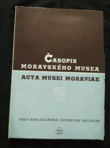 náhled knihy - Časopis Moravského musea - Vědy společenské 1968/9 (A4, Obr, 216 s.)