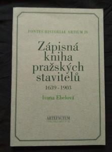 náhled knihy - Zápisná kniha pražských stavitelů 1639 - 1903 (A4, Obr, 96 s., čj, něm.)