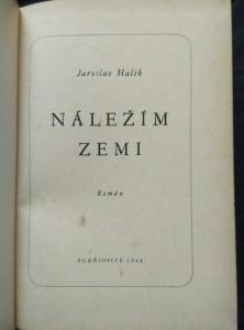 antikvární kniha Náležím zemi, 1944