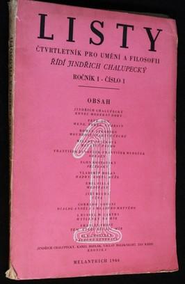 náhled knihy - Listy, čtvrtletník pro umění a filosofii, ročník 1, číslo 1