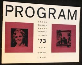 náhled knihy - Program opera, činohra, balet, zpěvohra, listopad 73