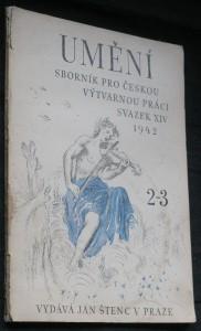 náhled knihy - Umění, sborník pro českou výtvarnou práci svazek XIV 2-3