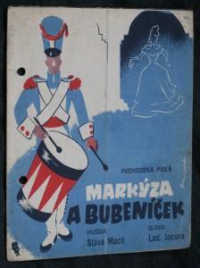 náhled knihy - Markýza a bubeníček pochodová píseň