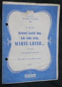náhled knihy - Krásný každý den, kdy tebe zřím, Marie-Luiso... serenade-valse