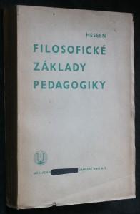 náhled knihy - Filosofické základy pedagogiky