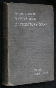 náhled knihy - Výbor z literatury české. Díl III., Doba nová