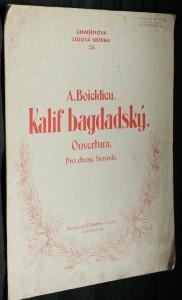 náhled knihy - Kalif Bagdádský. Ouvertura pro dvoje housle