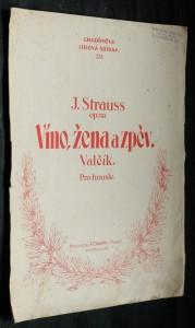 náhled knihy - Víno, žena a zpěv. Valčík pro housle