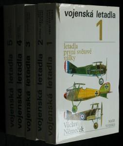 náhled knihy - Vojenská letadla.1.-5. díl. Letadla první světové války. Mezi dvěma světovými válkami. Letadla druhé světové války.  Období 1945-1950. Letadla současnosti.